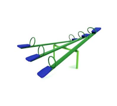 balancin metalico triple